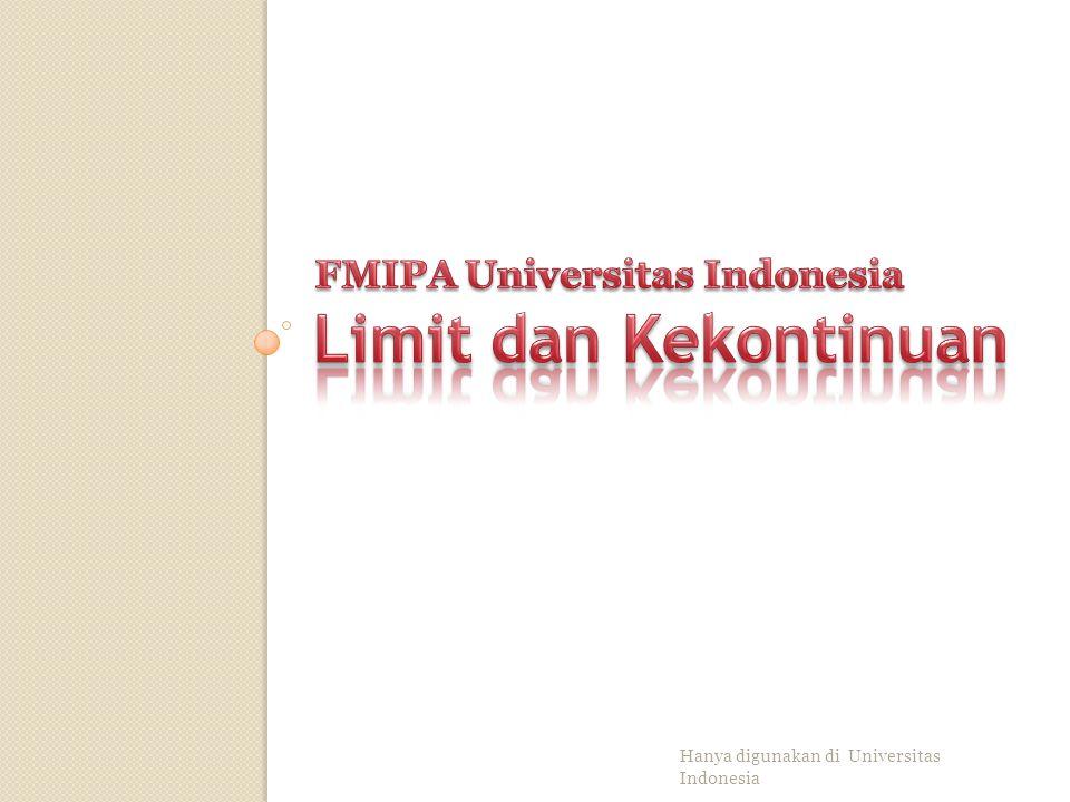 Hanya digunakan di Universitas Indonesia Peta Kontur