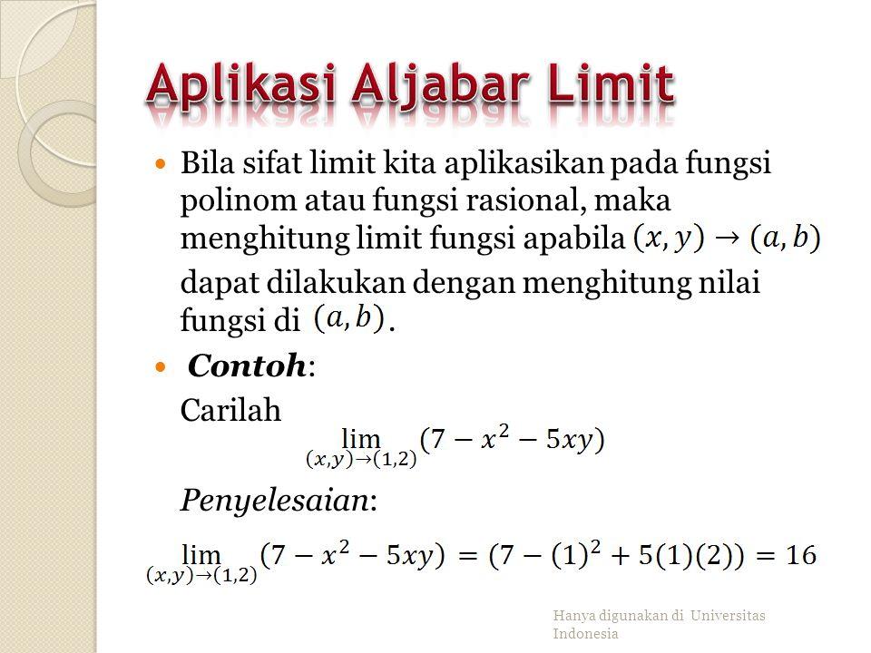 Misalkan dan Maka: Jika m, n adalah bilangan bulat dan n≠0, maka Hanya digunakan di Universitas Indonesia
