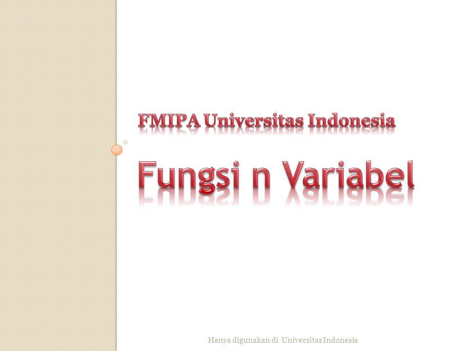 1. Cari turunan parsial dan di dari 2. Tentukan dan dari Hanya digunakan di Universitas Indonesia