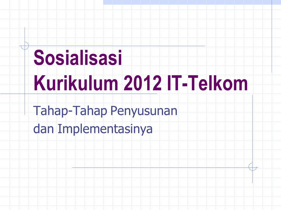 Sosialisasi Kurikulum 2012 IT-Telkom Tahap-Tahap Penyusunan dan Implementasinya