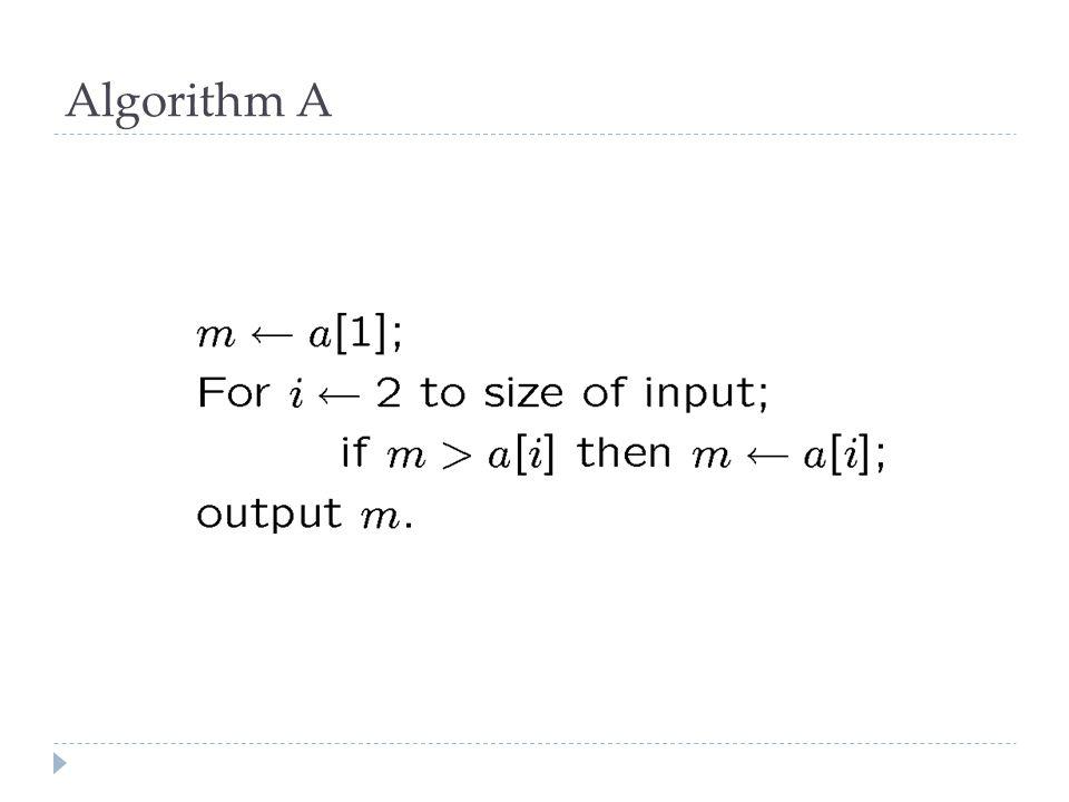 Algorithm A