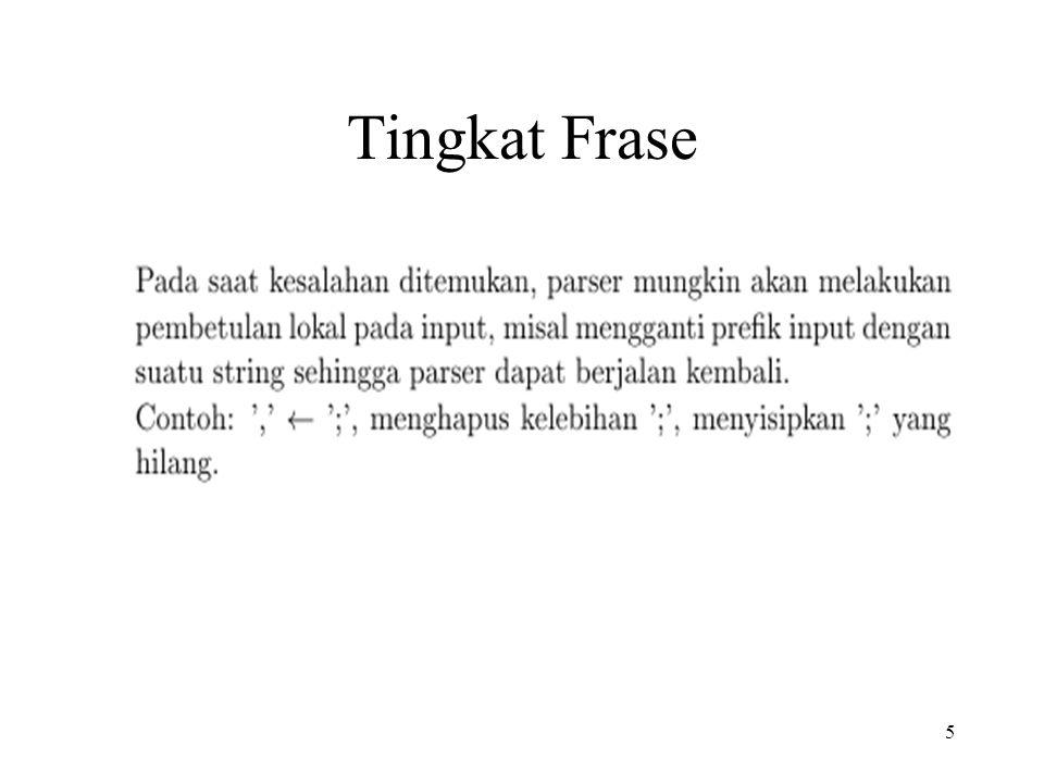 5 Tingkat Frase