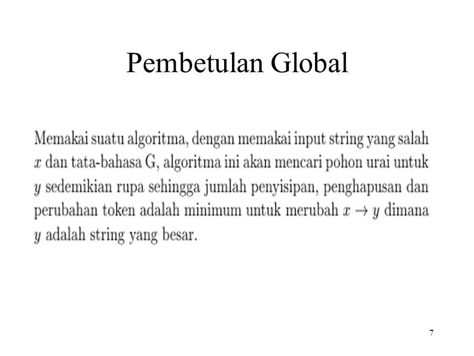 7 Pembetulan Global