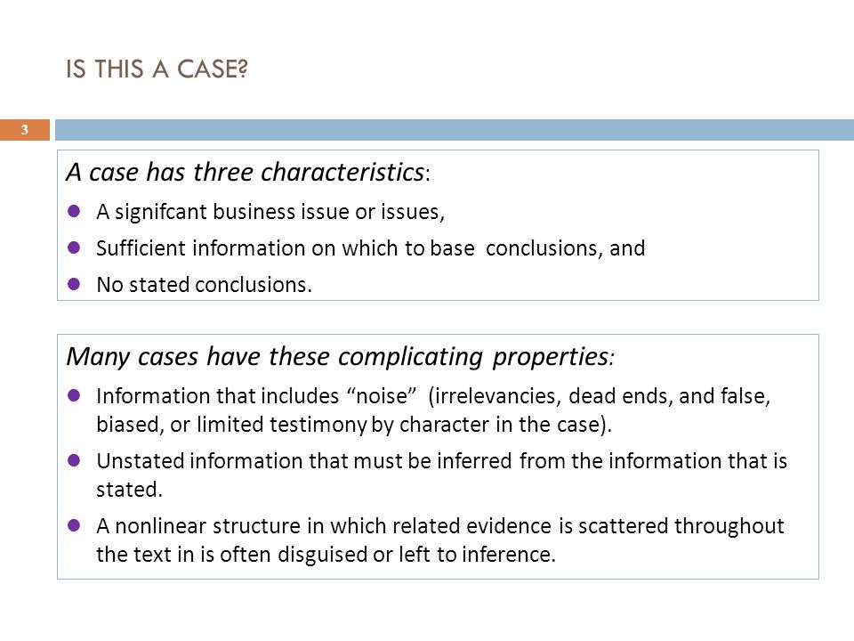 SKILLS FOR CASE METHOD STUDENTS 4 A case method students needs two sets of skills : 1.