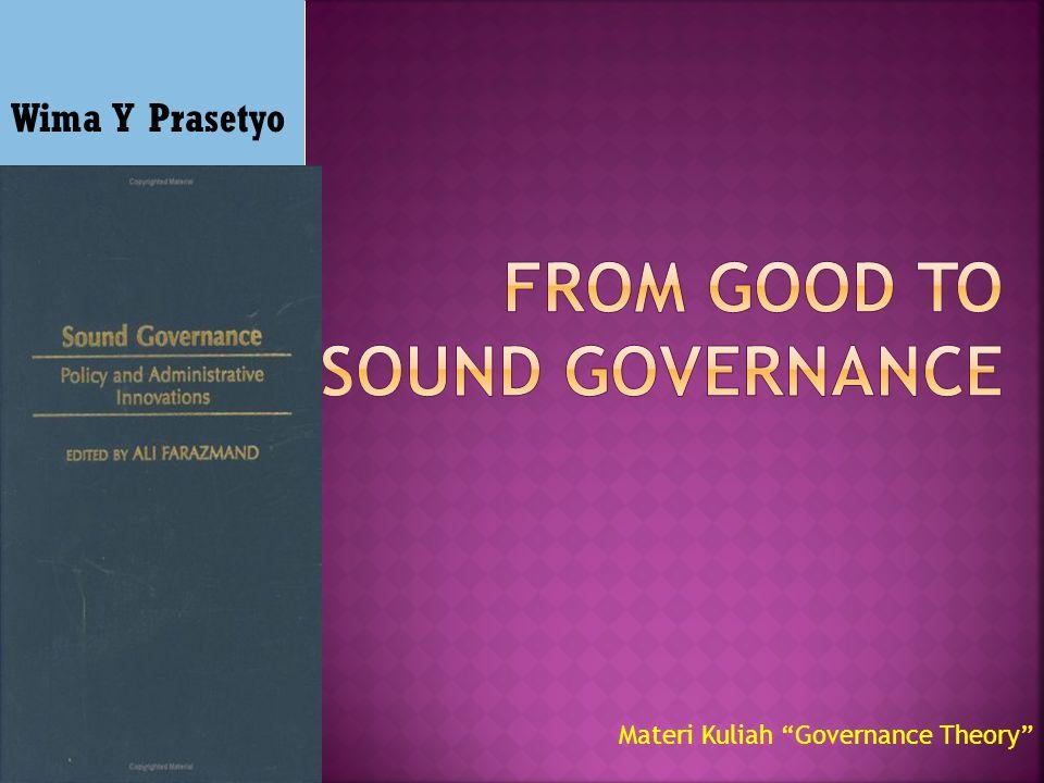 Wima Y Prasetyo Materi Kuliah Governance Theory