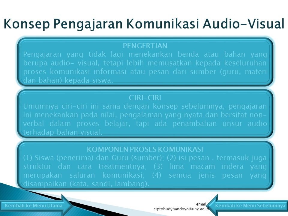 PENGERTIAN Pengajaran yang tidak lagi menekankan benda atau bahan yang berupa audio- visual, tetapi lebih memusatkan kepada keseluruhan proses komunikasi informasi atau pesan dari sumber (guru, materi dan bahan) kepada siswa.