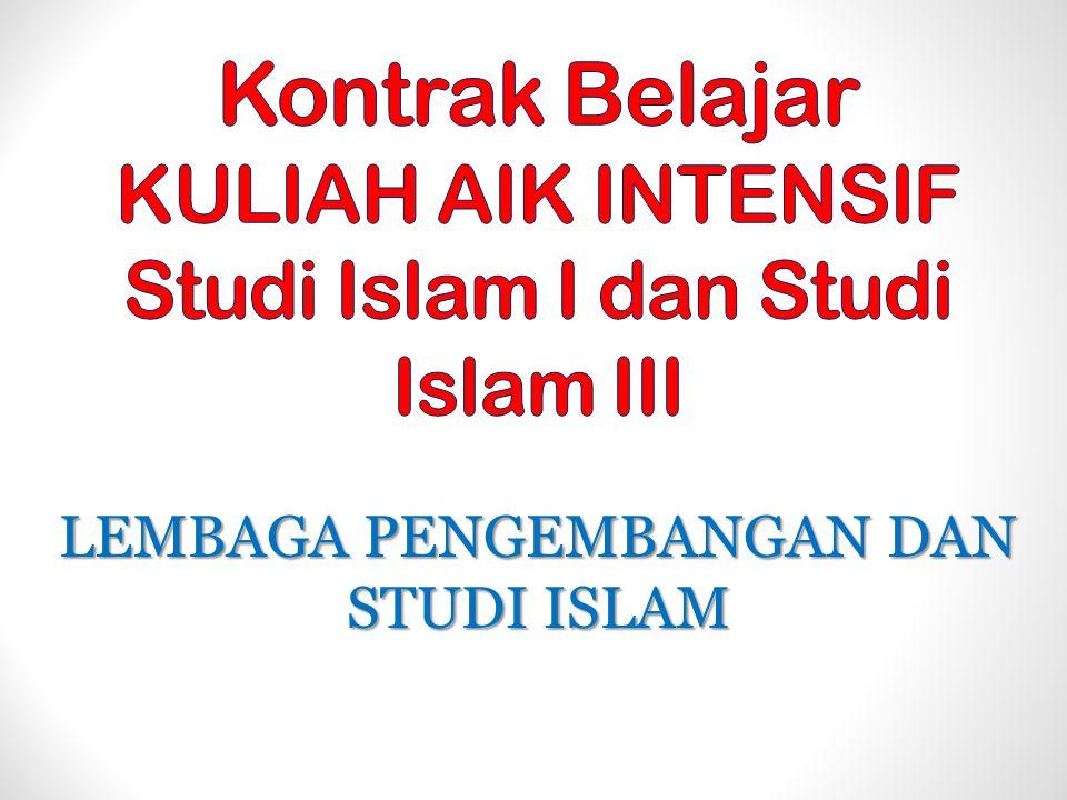 LEMBAGA PENGEMBANGAN DAN STUDI ISLAM
