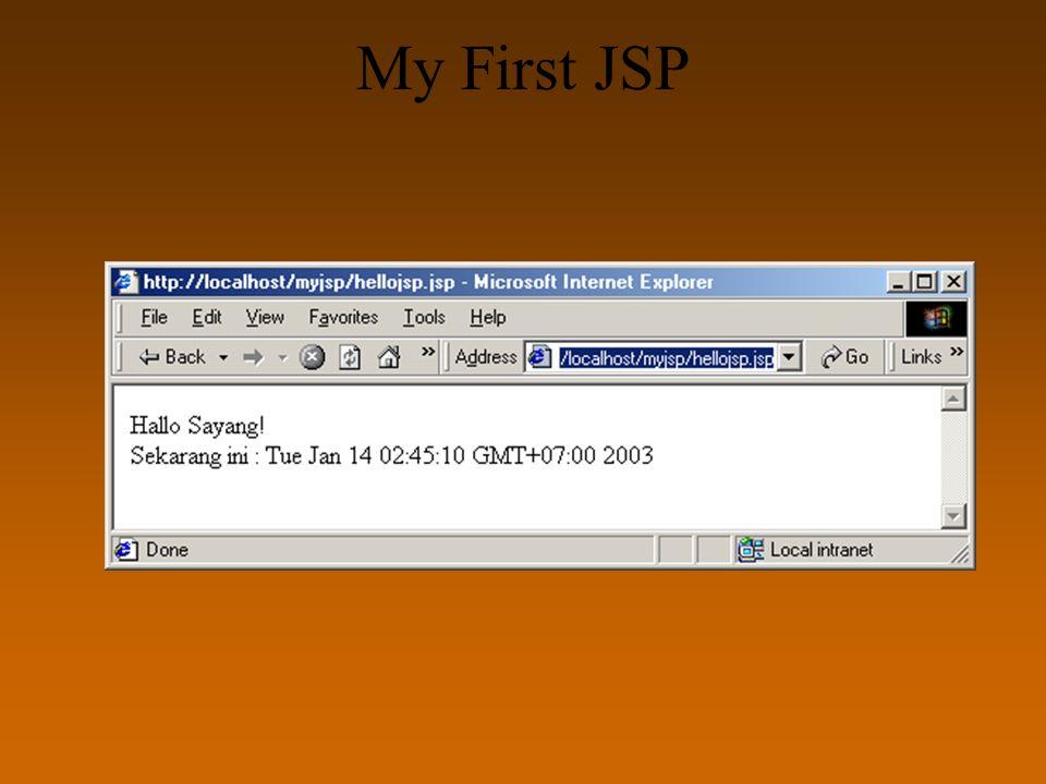 My First JSP