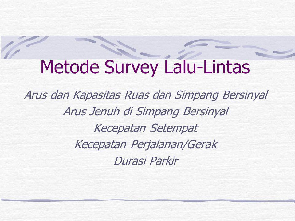 Data Umum Lembaga penyelenggara survey Jenis survey Nomor halaman formulir Lokasi (kota, nama jalan/simpang dll) dan sketsanya.