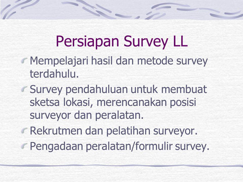 Jenis Peralatan Survey Otomatik Umumnya terdiri atas komponen detectordan penyimpan data. Detector dapat berupa pneumatic tube, loop detector, laser g