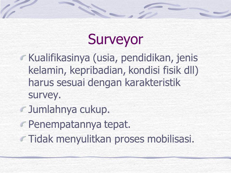 Metode Survey LL Harus sesuai dengan tujuan survey. Memungkinkan untuk dilaksanakan baik ditinjau dari aspek legal, ketersediaan teknologi, kondisi lo