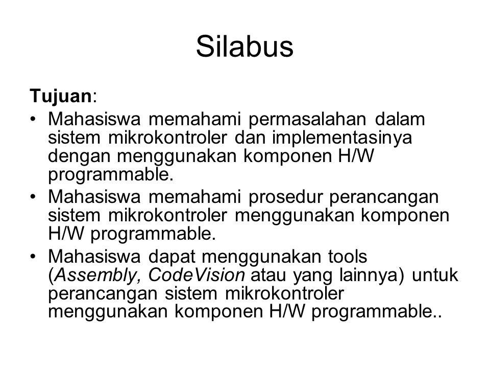Silabus Kompetensi: Mahasiswa dapat menggunakan komponen digital penunjang seperti gerbang dasar, buffer, Flip Flop, Register, Decoder, Encoder, Multiplekser dan lainnya untuk implementasi sistem mikrokontroler.