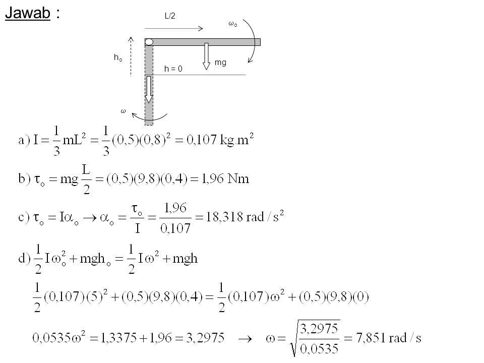 oo mg  hoho h = 0 L/2 Jawab :