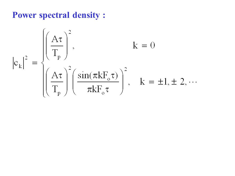 Power spectral density :