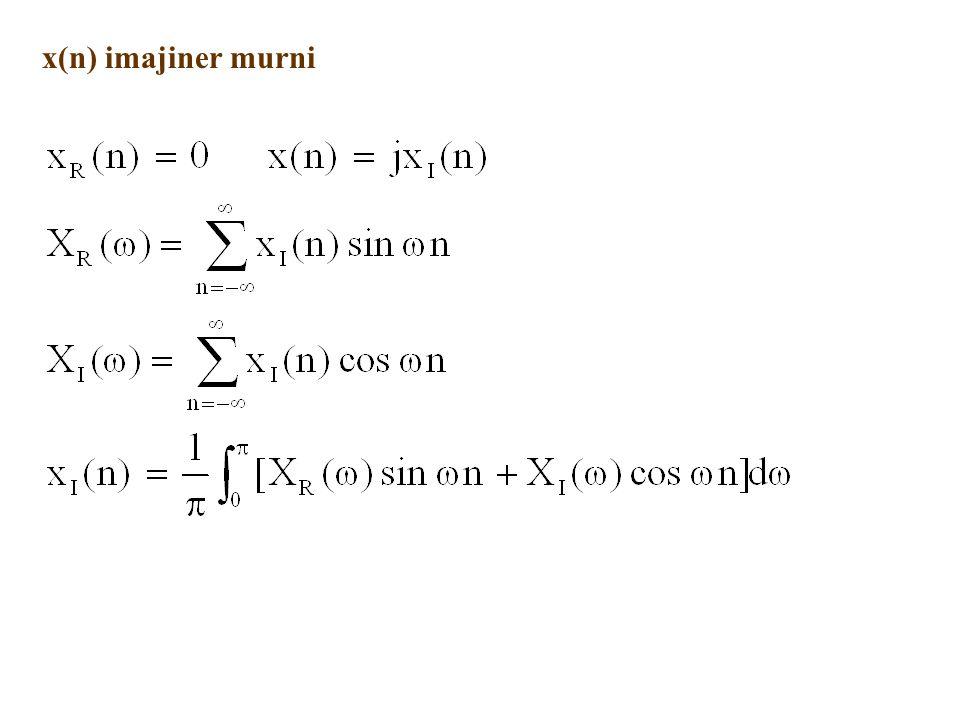 x(n) imajiner murni