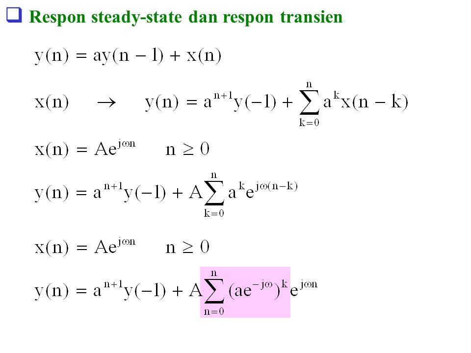  Respon steady-state dan respon transien