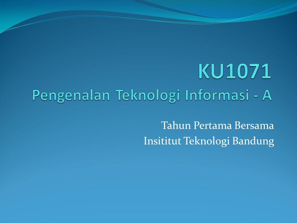 Tahun Pertama Bersama Insititut Teknologi Bandung