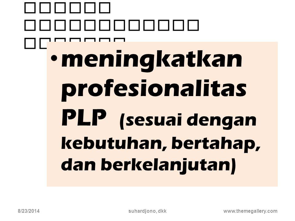 Kegiatan pada unsur pengembangan profesi wajib dilakukan 8/23/2014suhardjono, dkkwww.themegallery.com