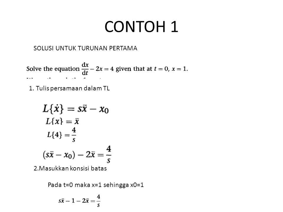 3. Susun persamaan dalam L(x) atau x 4. Cari invers TL