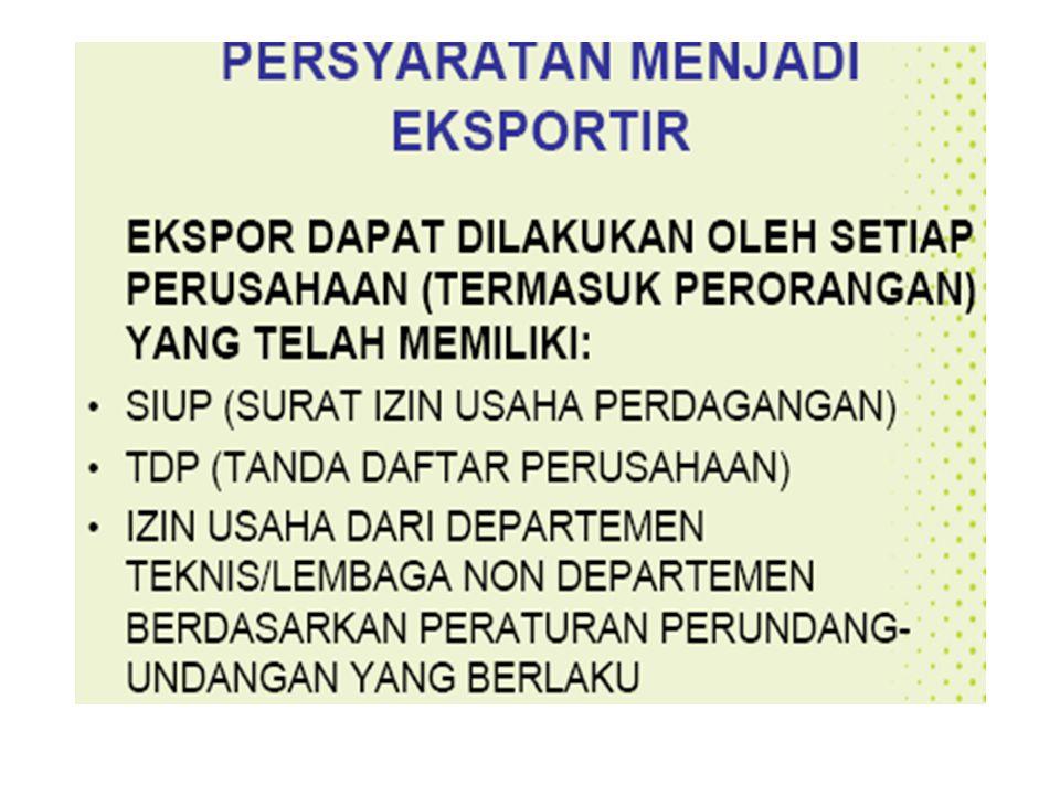 IV. Barang yang bebas ekspornya Selain dari barang-barang yang di atur / diawasi dan lain-lain di atas