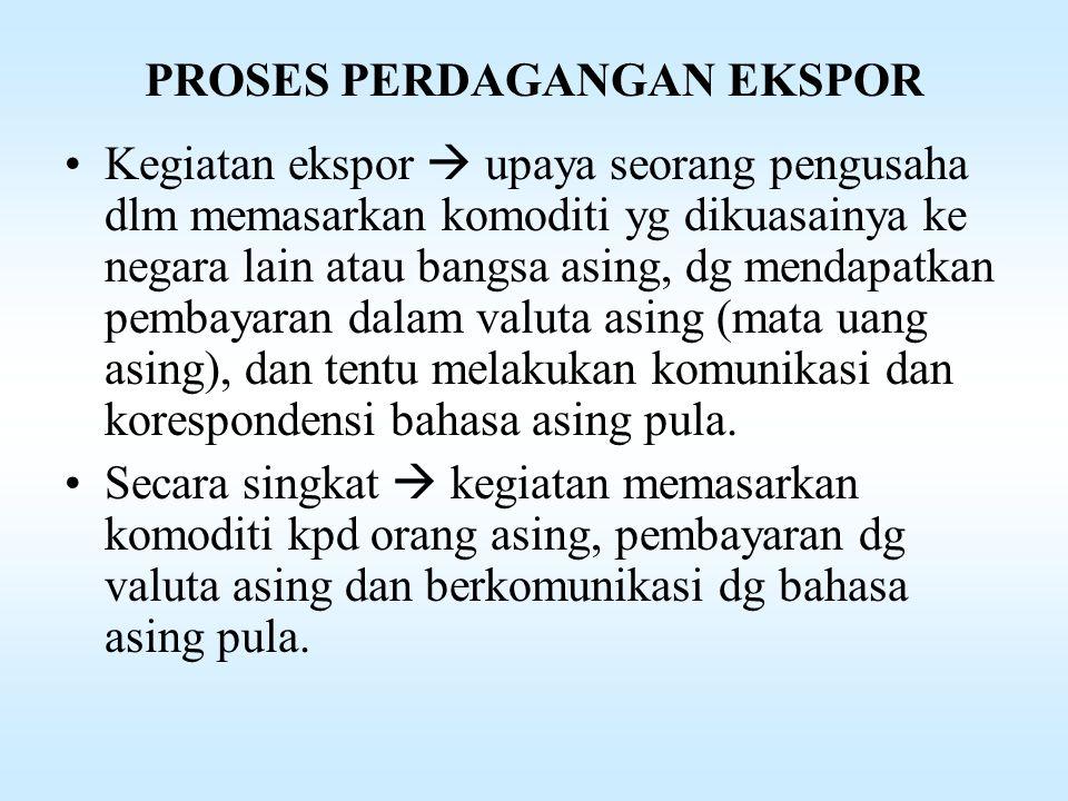 PARA PELAKU EKSPOR DAN DOKUMENNYA Para pelaku eksporDokumen yg diterbitkan 15.Kantor Inspeksi Pajak 1.Nomor Pokok Wajib Pajak ( NPWP) 2.Surat Bukti Setoran Pajak