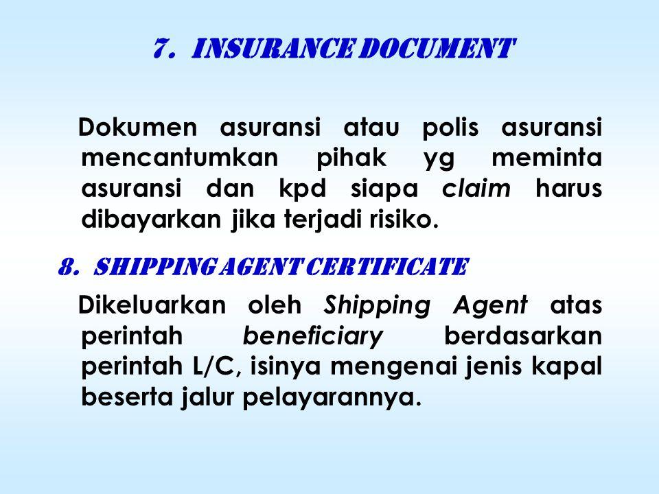 6. CERTIFICATE OF ORIGIN (COO) Surat Keterangan Asal ( SKA)  Surat pernyataan yg ditanda- tangani utk membuktikan asal usul barang-2 yg diekspor dan