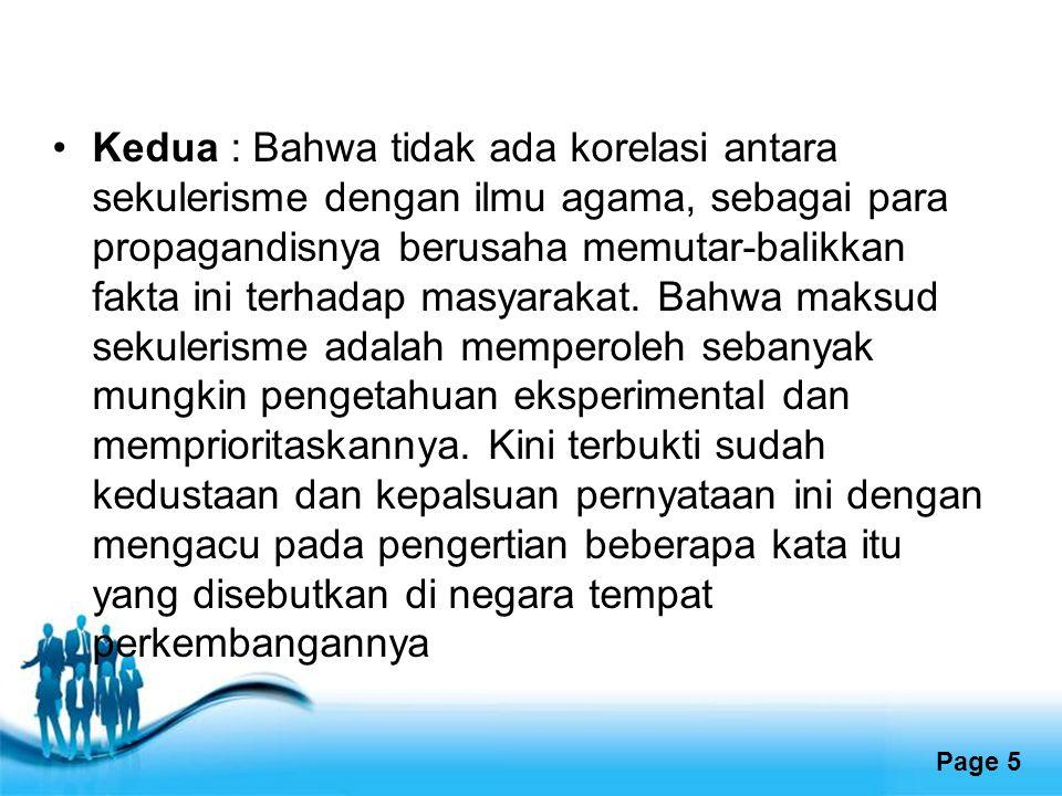 Free Powerpoint Templates Page 16 References http://an-naba.com/?s=sekulerisme Muhammad Syakir Syarif, 19/mei/2012http://an-naba.com/?s=sekulerisme Husaini,adiani,.