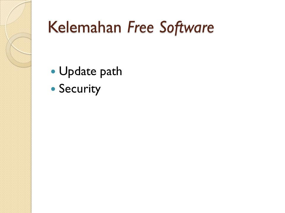 Kelemahan Free Software Update path Security