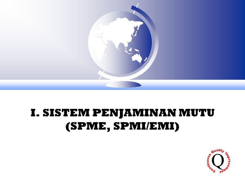 I. SISTEM PENJAMINAN MUTU (SPME, SPMI/EMI) Q