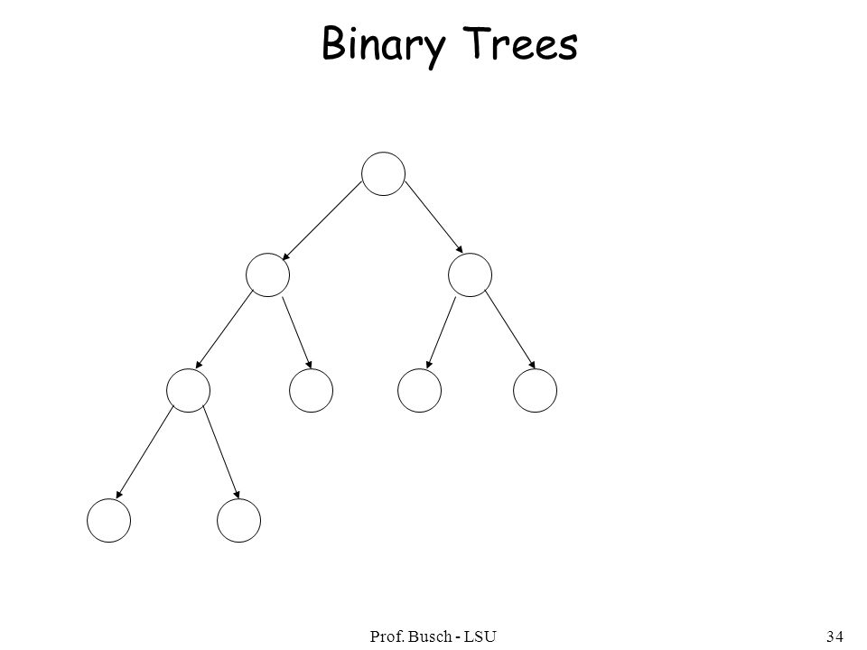 Prof. Busch - LSU34 Binary Trees