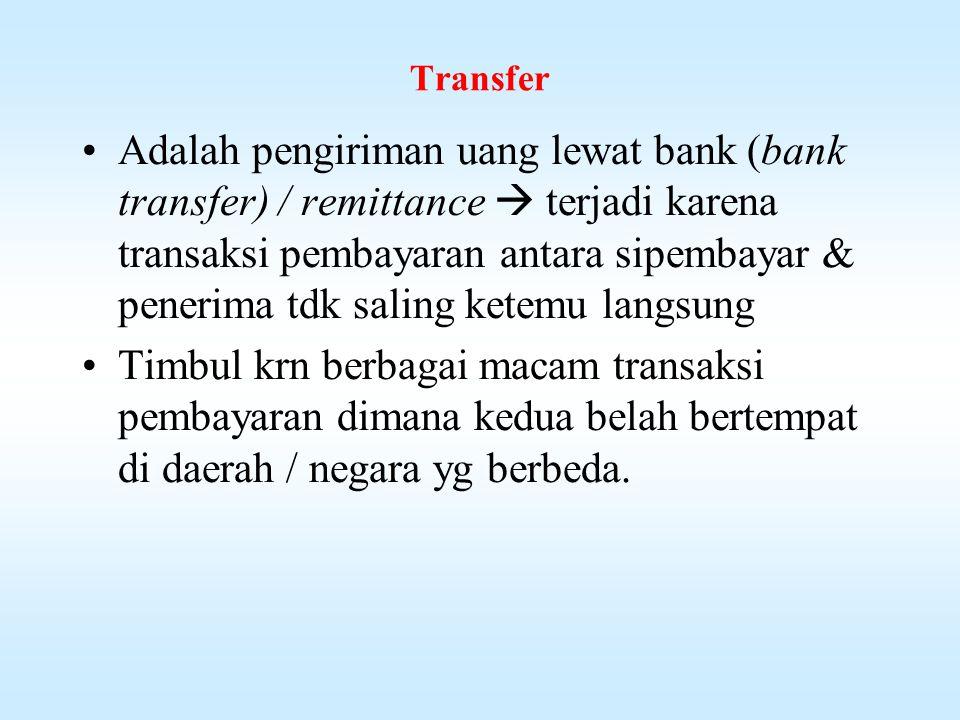Pelaku-pelaku TC Dalam lalulintas pembayaran dg TC terdapat pelaku-2 sbb: 1.Penerbit  bank-2 bertaraf internasional 2.Agen-2 penjualan  bank devisa & pedagang valas 3.Pembeli  perorangan / pengusaha 4.Merchat  Hotel, restoran, biro perjalanan 5.Pengumpul  pedagang valas, bank-2 devisa 6.Collecting Bank  bank devisa utk menagih pembayarannya kpd bank penerbit