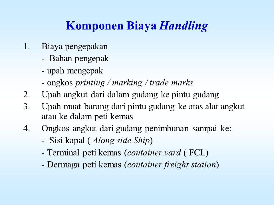 KOMPONEN BIAYA PENGADAAN ( PROCUREMENT COSTS) 1.Biaya produksi (Production costs) 2.Nilai beli barang (buying in cost)