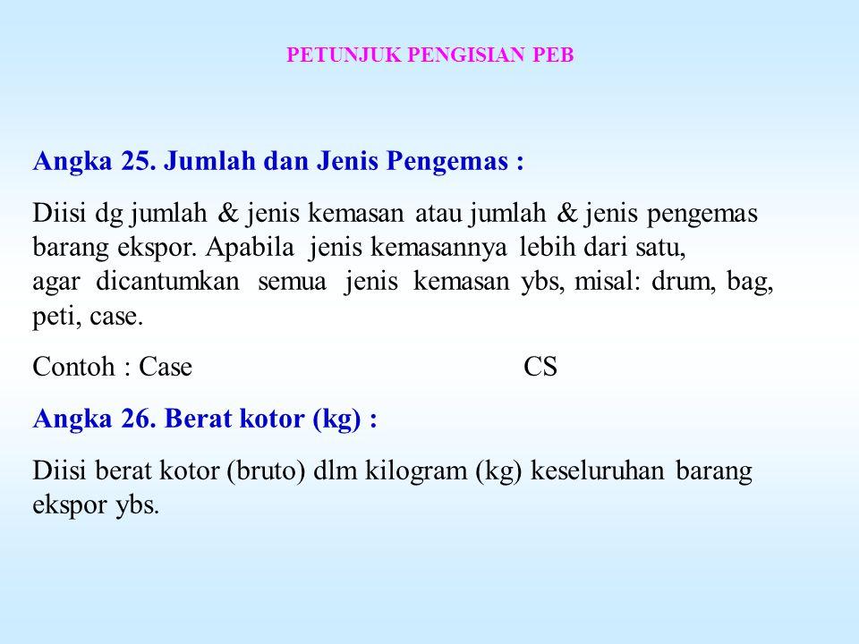 PETUNJUK PENGISIAN PEB Angka 23.