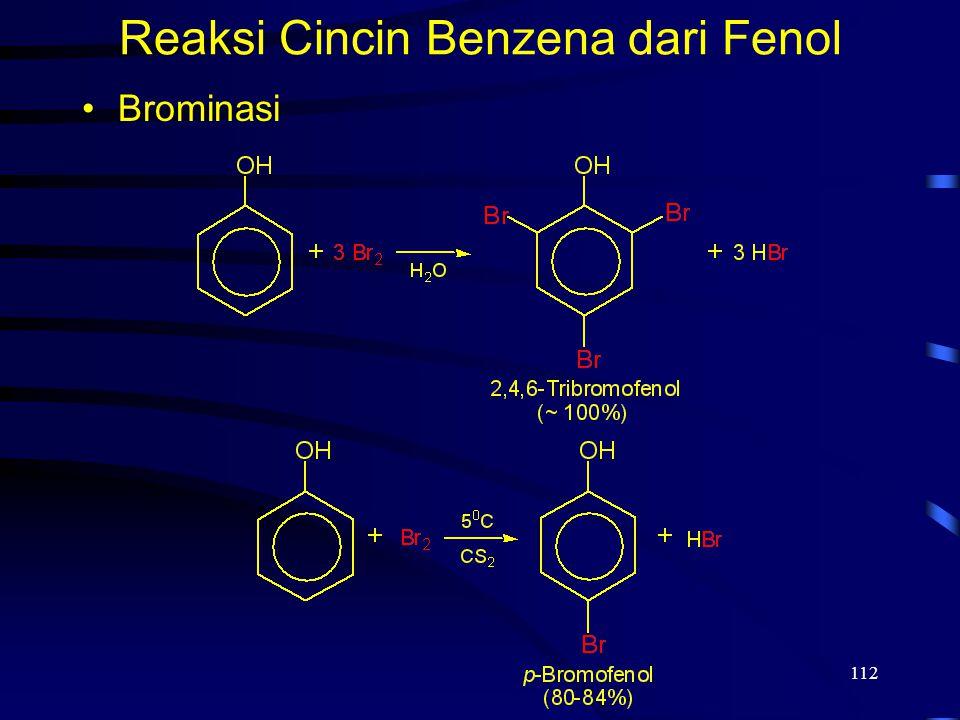 112 Reaksi Cincin Benzena dari Fenol Brominasi