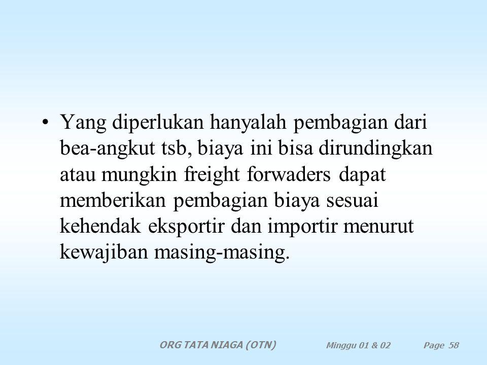 Jawaban Tidak praktis dan memang tidak ada manfaatnya karena dengan adanya terminal kontainer, barang harus dimuat di dalam kontainer dan adanya freig