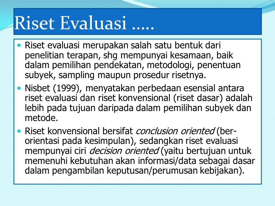 Riset Evaluasi …..