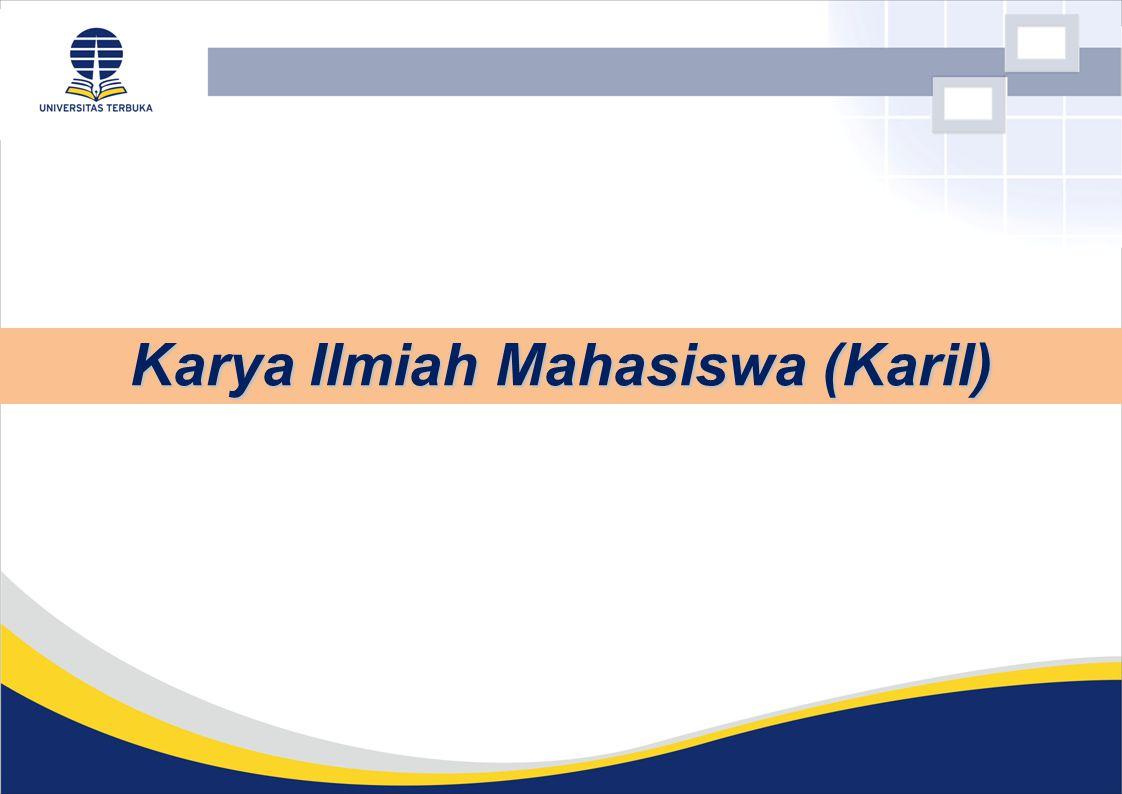 Karya Ilmiah Mahasiswa (Karil)