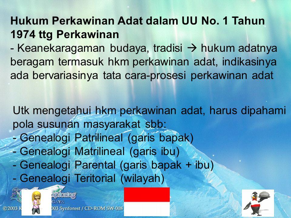 Hukum Perkawinan Adat dalam UU No.