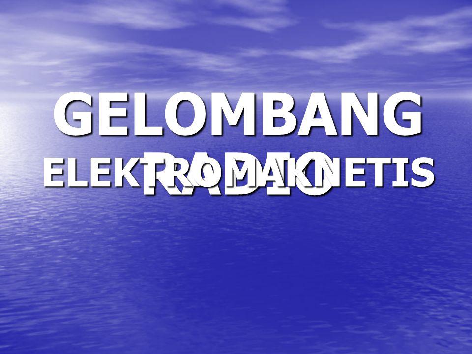 GELOMBANG RADIO ELEKTROMAKNETIS