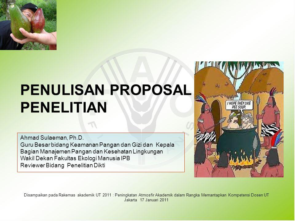 1.PENDAHULUAN: KENAPA PROPOSAL PENELITIAN DITOLAK 2.SEBERAPA PENTINGKAH PROPOSAL TERSEBUT.