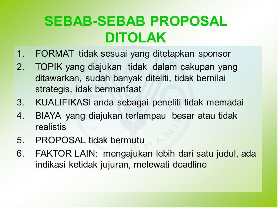 PROPOSAL TIDAK BERMUTU 1.