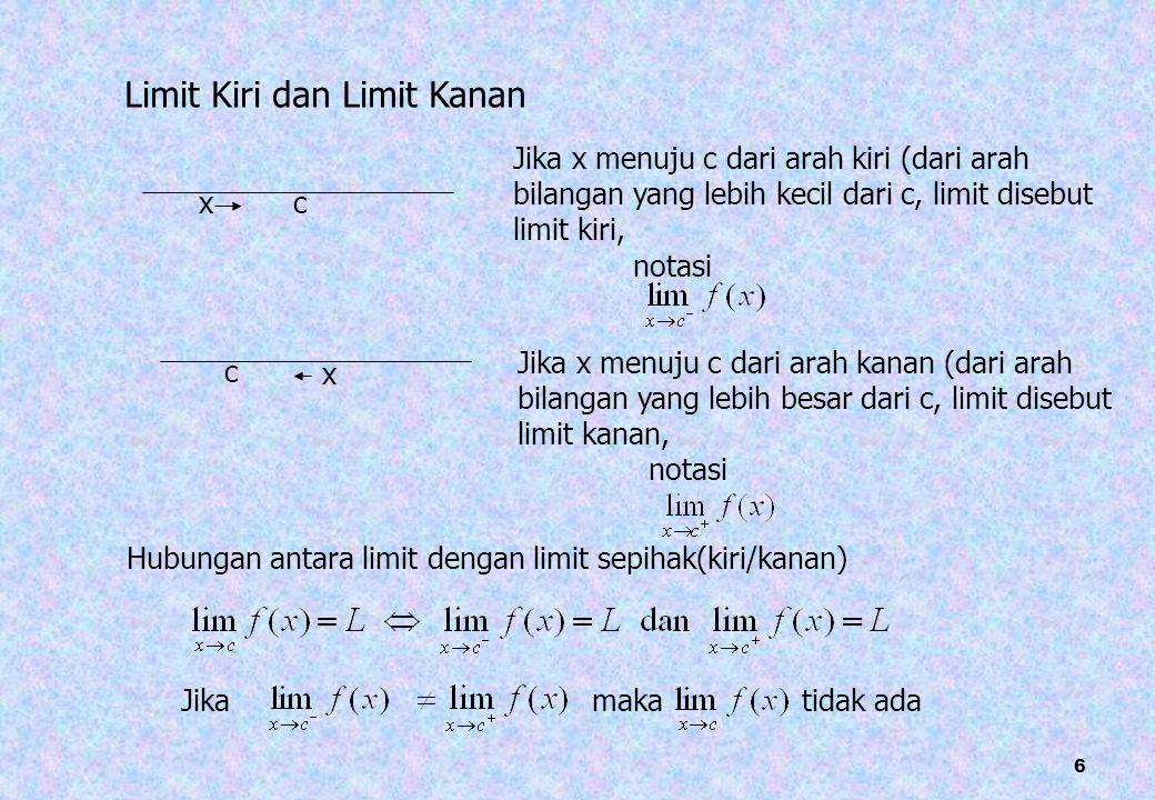 27 contoh Periksa apakah fungsi berikut kontinu di x=2, jika tidak sebutkan alasannya a.
