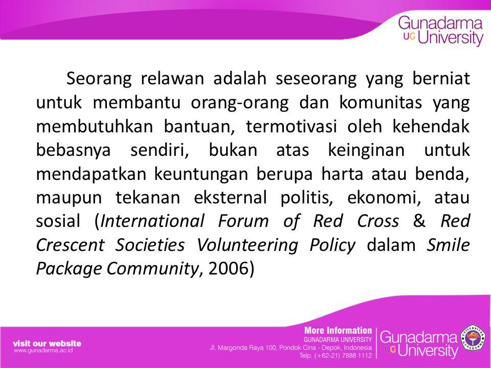 Relawan yang membantu para korban bencana jebolnya tanggul Situ Gintung tanpa pamrih ini dapat dikatakan sebagai bentuk altruisme.