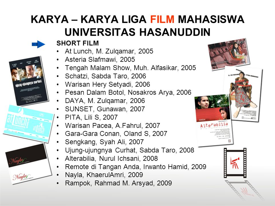 KARYA – KARYA LIGA FILM MAHASISWA UNIVERSITAS HASANUDDIN SHORT FILM At Lunch, M.