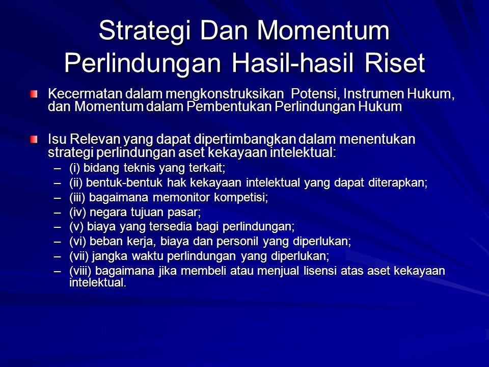 Strategi Dan Momentum Perlindungan Hasil-hasil Riset Kecermatan dalam mengkonstruksikan Potensi, Instrumen Hukum, dan Momentum dalam Pembentukan Perli