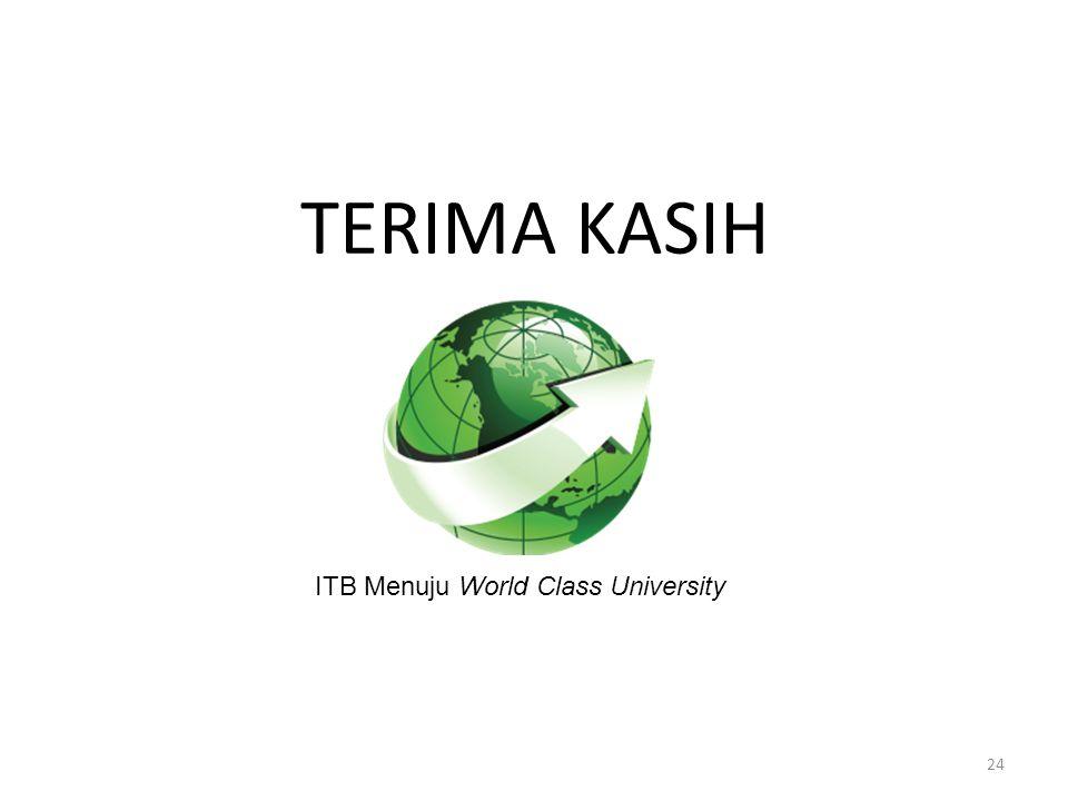 24 TERIMA KASIH ITB Menuju World Class University
