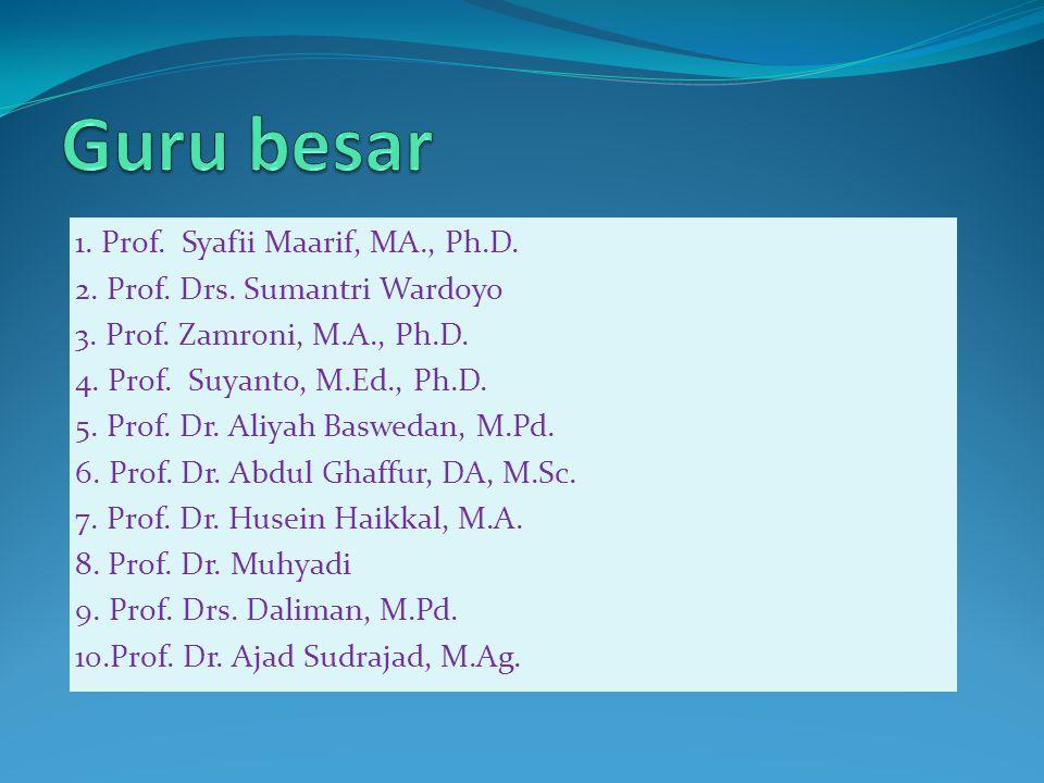 1. Prof. Syafii Maarif, MA., Ph.D. 2. Prof. Drs.