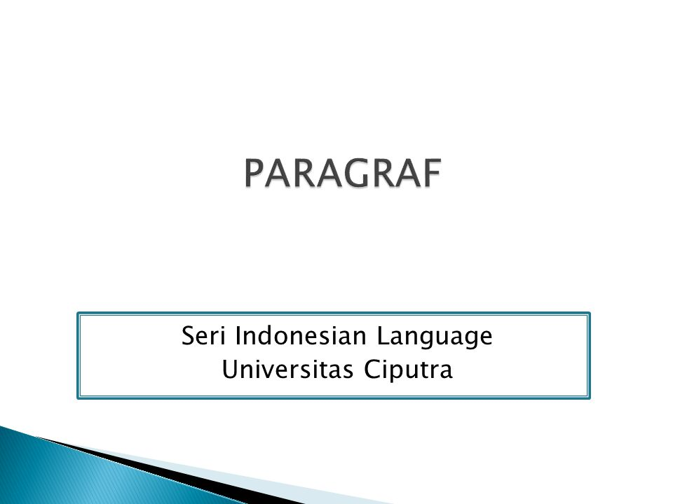 Seri Indonesian Language Universitas Ciputra