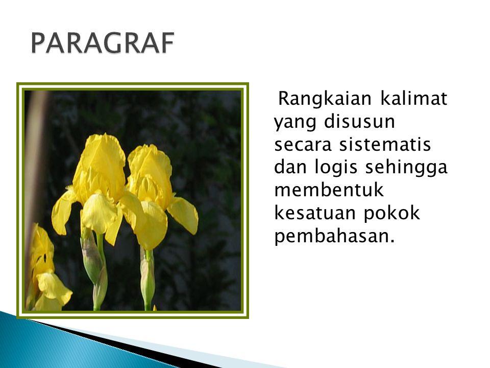 1.Gagasan utama: gagasan yang menjadi dasar pengembangan paragraf.