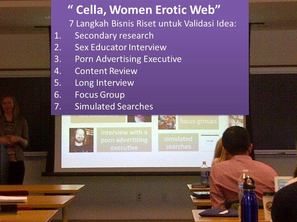 Cella, Women Erotic Web 7 Langkah Bisnis Riset untuk Validasi Idea: 1.